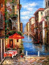 Completely Hand painted Venice Painting (Real painting)