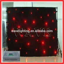WLK-1R Black fireproof Velvet cloth RED leds star curtain stage lighting led