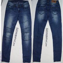 lady jean pant 2015 fashion Thick thread deep blue man jeans