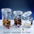 bpa livre louça vasilha de armazenamento recipiente de armazenamento plástico acrílico vasilha