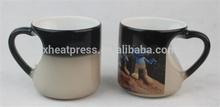 12OZ Color Changed mug/magic cup/ heart shape mug