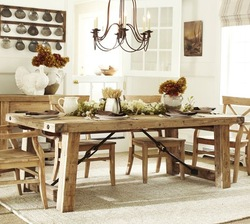 legs gray color and elm top Dining Table