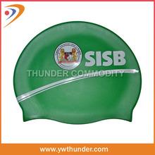 2014 Hot Sale custom printing silicone swim cap for long hair