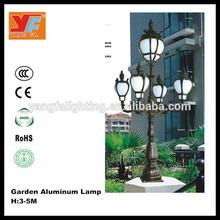 Western-style garden street light/ 3m die cast aluminium street light body YF-D2766/ Household Classic Yard Light for Vila