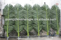 Q072605 plastic fake coconut tree branches artificial palm tree leaves artificial coconut tree leaf