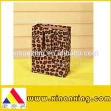 Leopard print kraft paper shopping bags