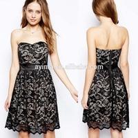 hot selling new designed zip back off the shoulder plain black lace dress patterns of lace evening dress
