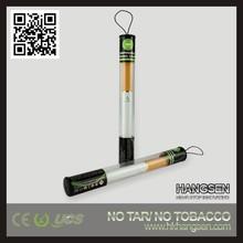 2014 top selling Hangsen 500 puffs D6 disposable electronic cigarette tube tank starter kit