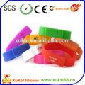 Pulsera usb de silicona/baratos de silicona pulsera usb pendrive