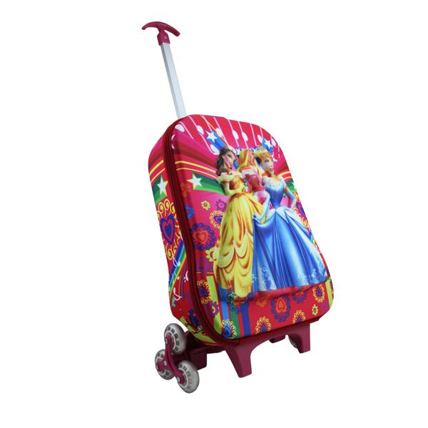 3D Flame Wheel Cartoon School trolley bag