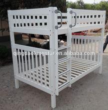 solid wood modern full over full bunk bed KS-BB08