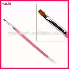 Yashi printed private name UV Gel Brush Flat Kolinsky Flat Gel Nail Brush