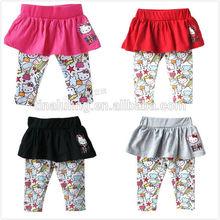 fashion baby girls hello kitty legging-skirts children leggings and tights