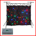 WLK-1F Black fireproof Velvet cloth Four leds star backdrop chinese night clubs