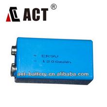 ER9V lithium battery 9V security alarm battery 1200mAh