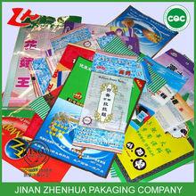 Plastic cover logo design popsicle bag packaging free samples