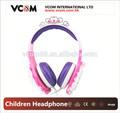 oem de color rosa estéreo de auriculares de arriba con control de volumen