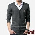 ผู้ชายผ้าขนสัตว์ชนิดหนึ่งของv- คอเสื้อสเวตเตอร์ถักเสื้อกันหนาวถักรูปแบบกะโหลก