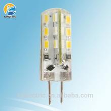 mini G4 silicone led light 12VAC/DC 360degree 3014smd 1.5W led lamp