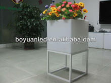 LED cube ice bucket/led cube flower pot with aluminous underframe