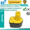 Replacement dewalt 12V 2000Ah Battery