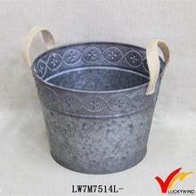 linen handles small bucket vintage corner zinc planters