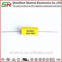 Polypropylene capacitor 400v 104j CBB20 axial capacitor polarity