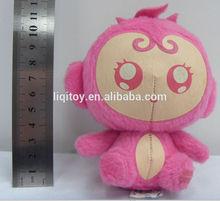 Pink small plush stuffed toy monkey