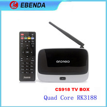 Android 4.2 TV Box Player CS918 RK3188 Quad Core 2GB/8GB WiFi 1080P with Remote Control EU Plug