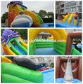 parque piscina inflable de diapositivas con fuente de la fábrica