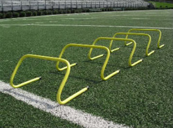 """6"""" INCH AGILITY TRAINING HURDLES (SET OF 6) WITH CARRY BAG SPORTS MINI STEP JUMP"""