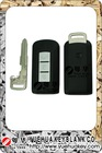 Mitsubishi 3 buttons flip remote control key case with groove cupronickel blade