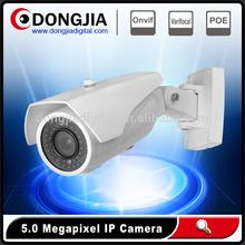 POE optional waterproof outdoor 5.0mp sd card recording ip bullet camera,25m IR view