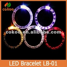 Color Changing Flash LED Bracelet for party Bangle Rave Lights
