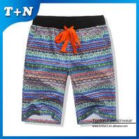 custom red teen boys hot bright color mens shorts