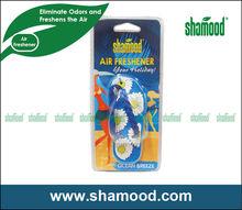 Shamood New Designed Scented Plastic Ocean Breeze Fragrance Flip-Flop Car Gel Air Freshener