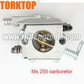 ms 230 250 sierra de cadena de piezas de repuesto del carburador