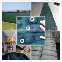 Polietileno de alta densidad de color verde oscuro/cerca de negro parabrisas w/arandelas de cobre de privacidad de la pantalla de malla cerca de la cubierta