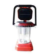 For Camping / Travelling / Emergency Solar / AC / DC Multi-functional Red Lantern Mady By ABS