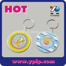 2014 custom round blank clear plastic acrylic keychain key chain wholesale