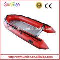 aprobado por la ce plegable inflable barco con cubierta rígida
