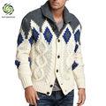 homens artesanal de malha suéteres