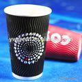 Copos de papel ondulado, nome de café bebida