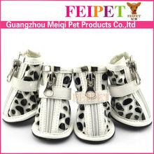 Fashion pet shoes for dog soft PU leather waterproof dog shoe