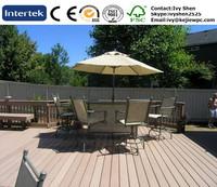 Outdoor Flooring Balcony Wood Grain Floor WPC Material Facade Decking Exterior Boards Decking