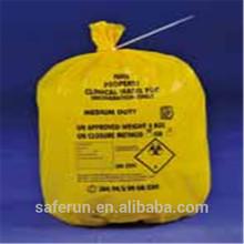 PE plastic material sacks healthcare waste disposal