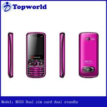 wholesale price M333(GRESSO) Dual sim card dual standby Bluetooth,FM,MP3,GPRS,WAP mobile phone