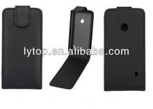 Black leather Flip case For Nokia Lumia 520