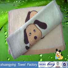 best quality hot sale 100 cotton dog printed baby towels