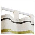 2014 hecho en china raya horizontal superior tab cortinas de poliéster
